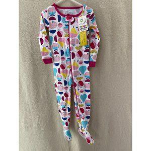 Lamaze Organic Colorful Fruit Print Foot Pajamas